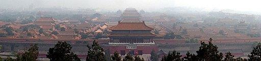 Die Verbotene Stadt vom Jingshan-Hügel aus