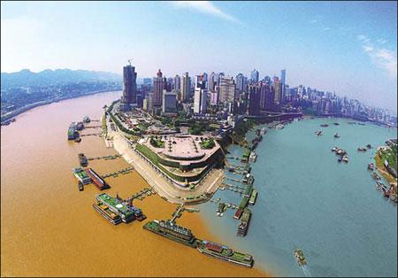 Yangtze und Jialing